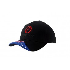 BRUSHED HEAVY COTTON CAP WITH AUSTRALIA FLAG INSERT/EMBROIDERY ON PEAK