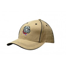 BRUSHED HEAVY COTTON CAP WITH SANDWICH TRIM & CROWN PIPING
