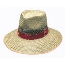 NATURAL STRAW HAT WITH GREEN UNDER ? S-M-L-XL