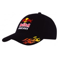 BRUSHED HEAVY COTTON CAP WITH SONIC WELD FLAMES