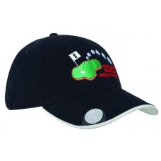 BRUSHED HEAVY COTTON CAP WITH MAGNETIC BALL MARKER ON PEAK