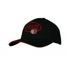 DELUXE BULL DENIM COTTON TWILL CAP WITH SANDWICH TRIM