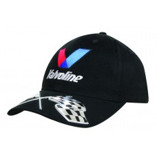 BRUSHED HEAVY COTTON CAP WITH LIQUID METAL FLAGS