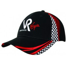 BRUSHED HEAVY COTTON CAP WITH EMBROIDERY & PRINTED CHECKS