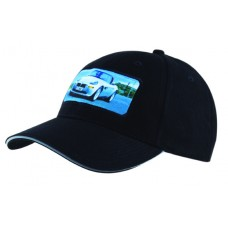 BRUSHED HEAVY COTTON CAP WITH REFLECTIVE SANDWICH & STRAP