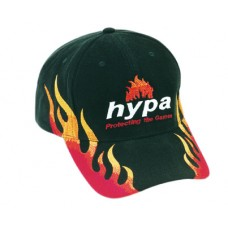 BRUSHED HEAVY COTTON CAP WITH DOUBLE FLAME