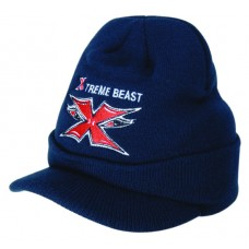 ACRYLIC BEANIE WITH PEAK