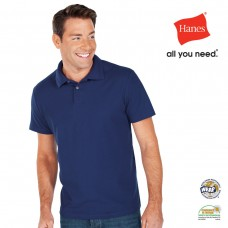 Hanes Men's Heavyweight Polo