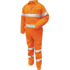FIRE RETARDANT COVERALL WITH TAPE.