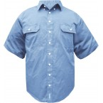 SHORT SLEEVE CHAMBRAY SHIRT