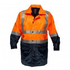 FLEECY LINED RAIN JACKET WITH TAPE