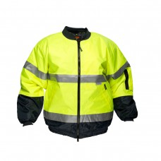 HI VIS BOMBER JACKET WITH 3M TAPE