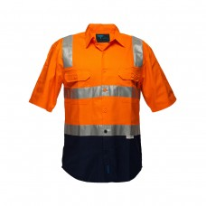 2 TONED REGULAR WEIGHT SHORT SLEEVE SHIRT WITH 3M TAPE OVER SHOULDER
