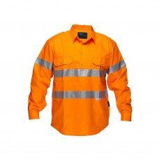 FULL COLOUR REGULAR WEIGHT LONG SLEEVE CLOSED FRONT SHIRT WITH 3M TAPE