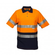 SHORT SLEEVE COTTON PIQUE POLO WITH 3M TAPE