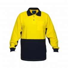 LONG SLEEVE COTTON PIQUE POLO