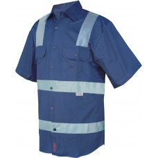 SHORT SLEEVE BUSINESS SHIRT WITH TAPE OVER SHOULDER