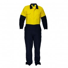 REGULAR WEIGHT 2 TONE COTTON COVERALLS
