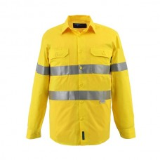 FULL HI VIS LIGHTWEIGHT LONG SLEEVE SHIRT WITH TAPE