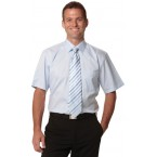 Men's Self Stripe Short Sleeve Shirt