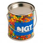 BIG PVC BUCKET FILLED WITH M&MS 850G