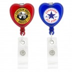 Heart-Shaped Retractable Badge Holder